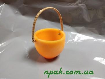 """Свічка """"Корзина"""" оранжева (1 шт.)"""