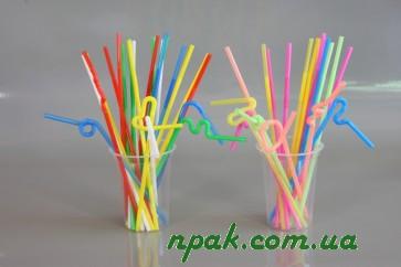 Трубочки для напоїв ARTISTIC з довгою гофрою (d=6mm, l=270mm) (100 шт.)