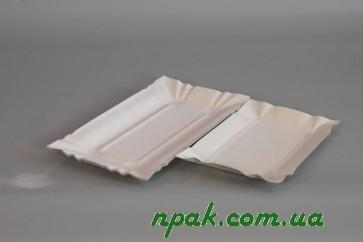 Тарілка паперова прямокутна (100 шт.)
