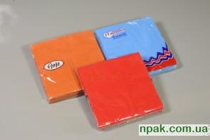 Серветки паперові 3-шарові (насичений колір) (Польща) (20 шт.)
