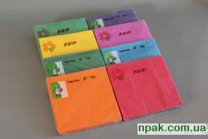 Серветки паперові 3-шарові (насичений колір) (20 шт.)