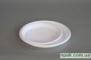 Тарілка біла (100 шт.)