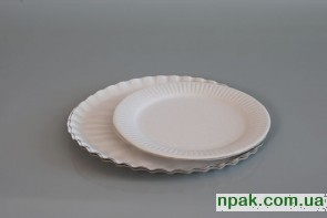 Тарілка паперова кругла (100 шт)