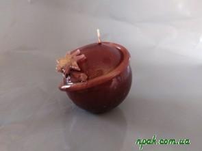 """Свічка """"Куля"""" коричнева (1 шт.)"""