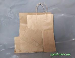 Пакет паперовий з ручками (35см х 25см х 14см) (1 шт.)