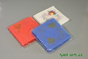 Серветки паперові одношарові зубковані (200 шт.)