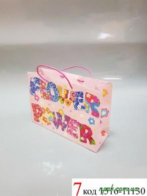 """Пакети подарункові паперові """"BRAUN"""" (30х21х10 см) (1 шт.)"""