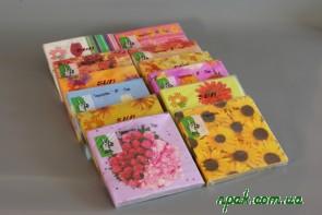 Серветки паперові 3-шарові з квітковим принтом (20 шт.)