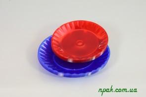 Тарілка склоподібна кольорова (10 шт.)