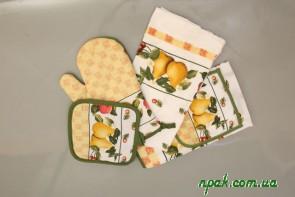 Комплект кухонний з 4 частин (бавовна) (1комплект.)
