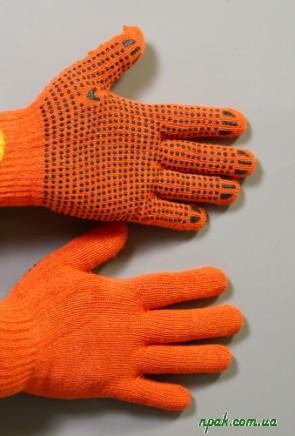 Рукавиці робочі з матерії оранжеві (2 шт.)