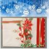 Скатерка флізелінова новорічна (червона) (1шт.)
